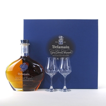 Picture of Delamain Extra Cognac (700 ml) + 2 Glasses With Gift Box