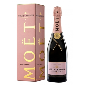 Picture of Moet & Chandon Brut Rose Imperial Champagne (750 ml.) With Gift Box