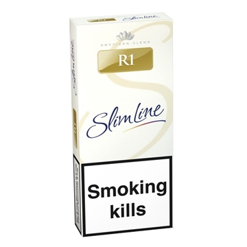 Picture of R1 Gold Slim Line Cigarettes