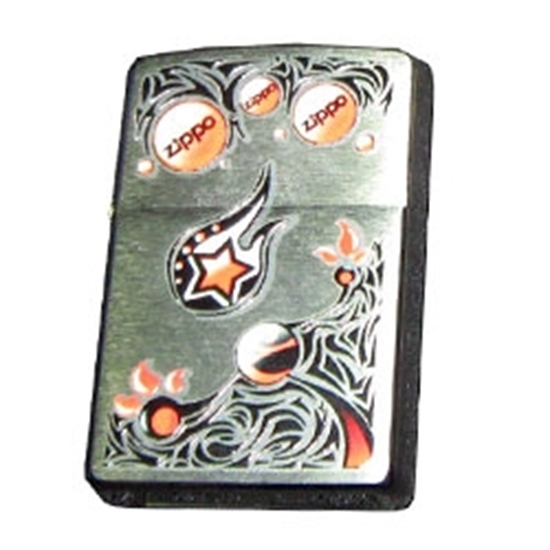 Picture of ZIPPO 28056 BRUSHED CHROME LIG