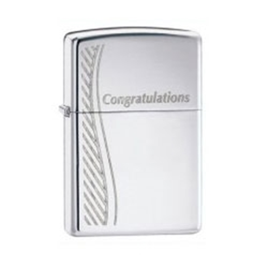 Picture of Zippo Congratulations Lighter - High Polished Chrome