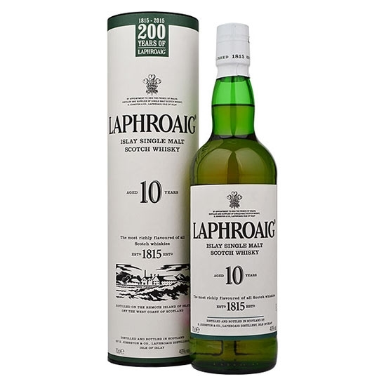 Picture of Laphroaig Single Malt Whisky 10 Year Old (70CL)