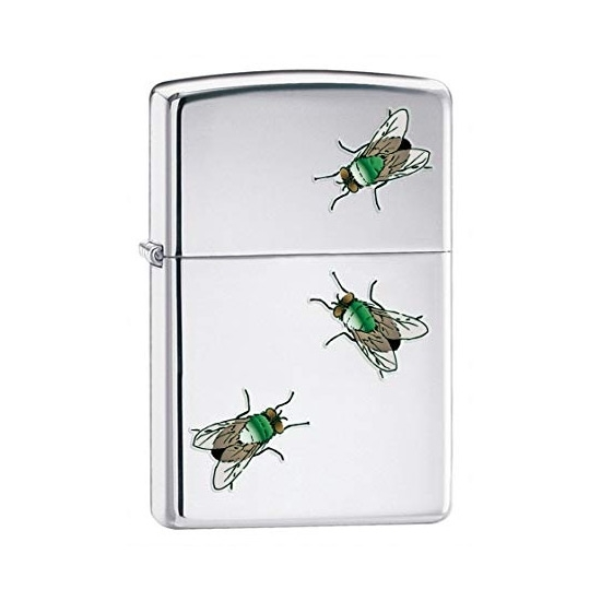 Picture of Zippo Flies Lighter - High Polished Chrome