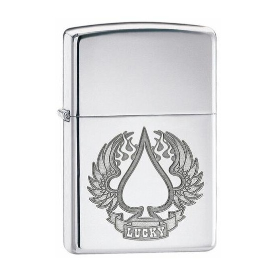 Picture of Zippo Lucky Wings High Polish Chrome