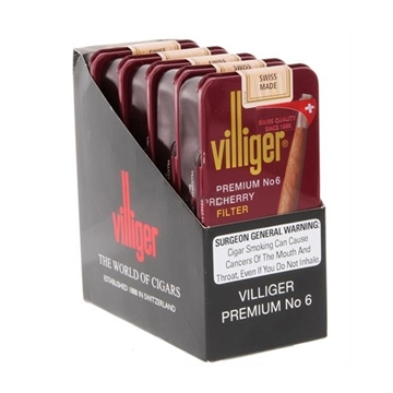 Picture of Villiger Premium No. 6 Cherry Cigars (5 X 10 Cigars)