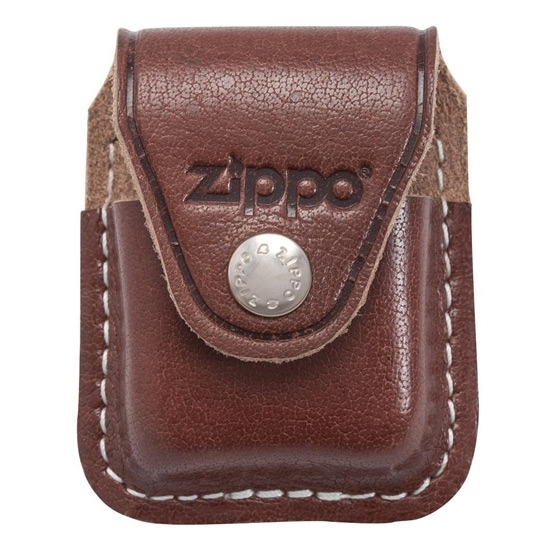 Picture of ZIPPO LEATHER POUCH BROWN